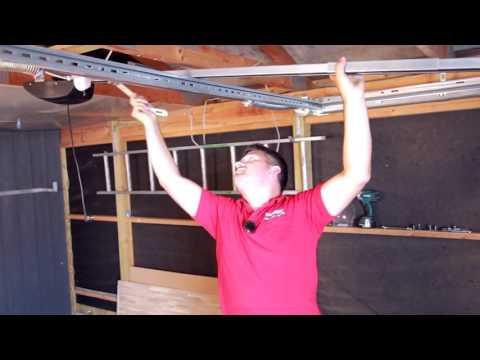 Montering af motor på garageport