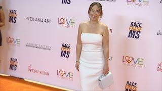 <b>Haylie Duff</b> 2017 Race To Erase MS Gala Orange Carpet