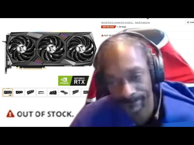 Snoop Dogg loses his mind on live stream while attempting to buy the RTX 3080 Ti