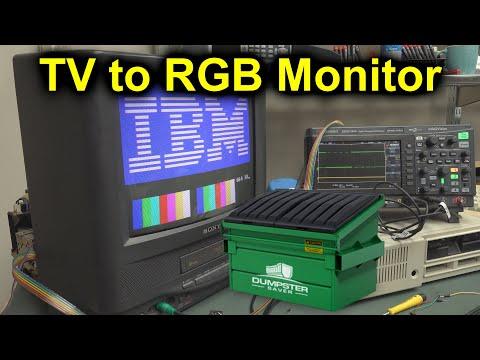 EEVblog #1246 - Dumpster TV to Retro RGB Monitor Conversion