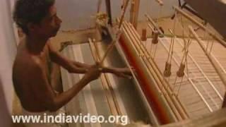 Handloom weaving at Balaramapuram