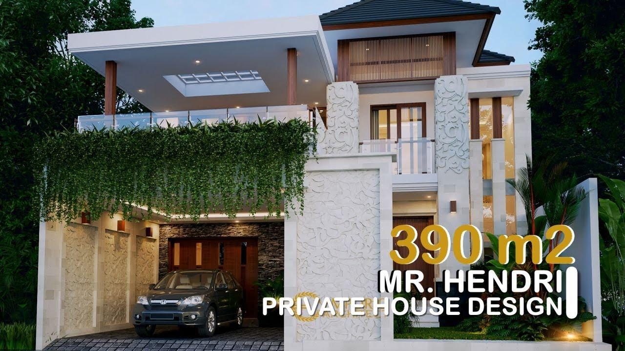 Video 3D Mr. Hendri Villa Bali House 2 Floors Design - Padang, Sumatra Barat