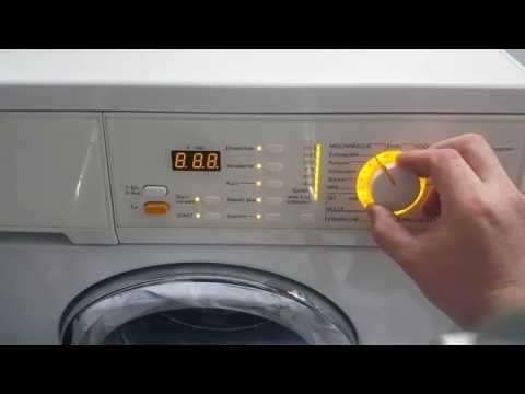 Miele Waschmaschine Prüfprogramm nutzen und Betriebsstunden auslesen