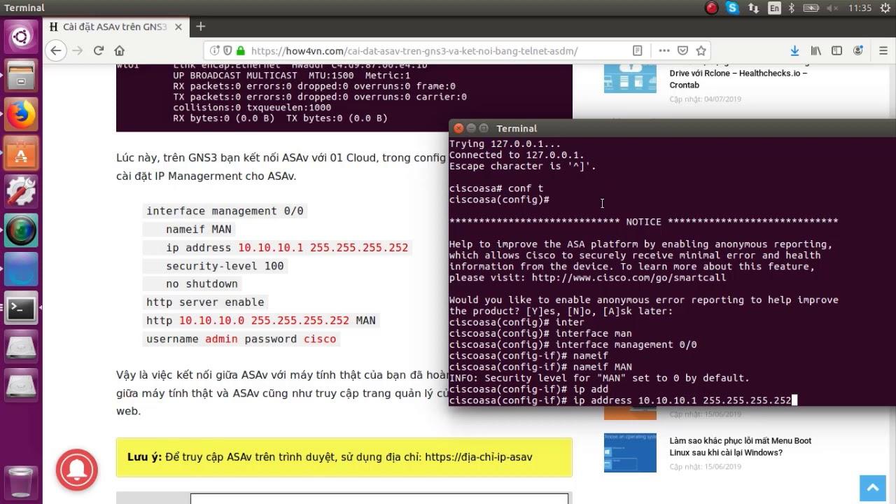 Cài đặt ASAv cho GNS3 trên Linux Unbuntu