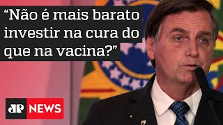 Bolsonaro afirma que vacina é questão de saúde, e não de justiça