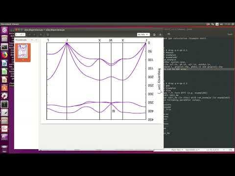 PWscf (phonon calculation, DFPT method) - смотреть онлайн на