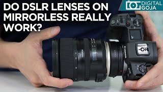 Are DSLR Lenses Compatible With Mirrorless Cameras? | Tamron EF Lenses On The Canon EOS R