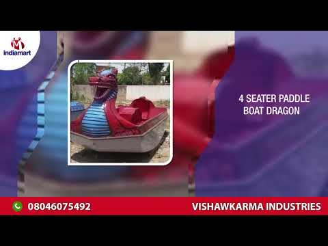 Blue Four Seater Paddle Boat