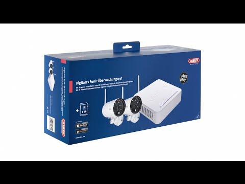 ABUS Funk-Videoüberwachung Set (Funk-Überwachungskameras, Rekorder & App)