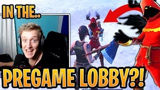 Tfue Shows Why You Should NEVER Shoot Him in the Pregame Lobby! - Fortnite Best and Funny Moments