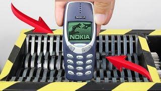 Experiment Shredding Nokia 3310 | The Crusher
