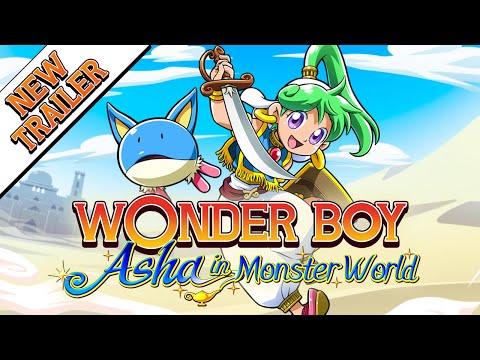 Wonder Boy: Asha in Monster World Release Date Trailer