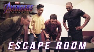 Watch Anthony Mackie, Letitia Wright, Sebastian Stan, and Benedict Cumberbatch take on a Marvel Studios' Avengers: Endgame-themed escape room!   ► Subscribe to Marvel: http://bit.ly/WeO3YJ  Follow Marvel on Twitter: https://twitter.com/marvel Like Marvel on Facebook: https://www.facebook.com/marvel  For even more news, stay tuned to: Tumblr: http://marvelentertainment.tumblr.com/ Instagram: https://www.instagram.com/marvel Pinterest: http://pinterest.com/marvelofficial Reddit: http://reddit.com/u/marvel-official