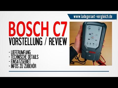 BOSCH C7 Test am Auto - Ladegerät Test & Vorstellung - 24V / 12V Lkw & Pkw Batterie laden