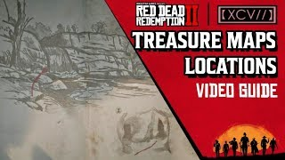 RED DEAD REDEMPTION 2 · ALL TREASURE MAPS Locations Video Guide (Explorer Challenge) | 【XCV//】