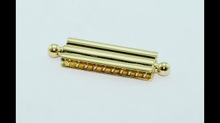 Bayonet Lock For Necklaces And Bracelets In 18KT Gold, Handmade
