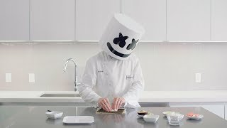 How To Make Sushi - California Roll | Cooking with Marshmello