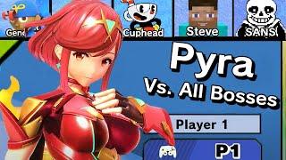 Pyra Vs. All Bosses in Super Smash Bros Ultimate + Cutscenes | DLC Update (11.0.0)