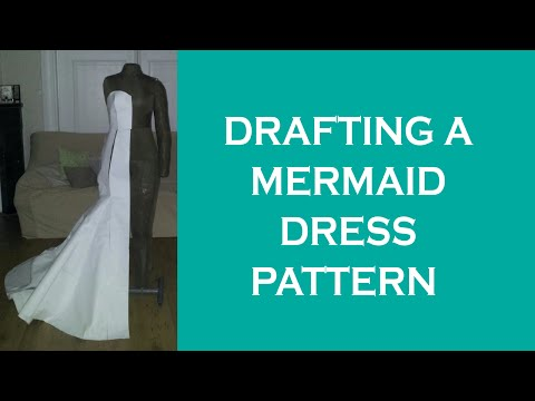 Design a mermaid dress pattern