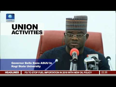 Governor Bello Bans ASUU In Kogi State University