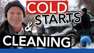 How to Start Your Vehicle in the Cold Winter & Clean it Off