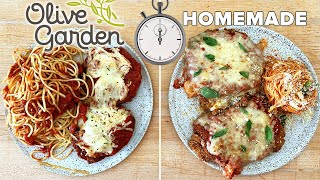 Can This Pro Chef Make Chicken Parm Faster Than Delivery From Olive Garden? •Tasty