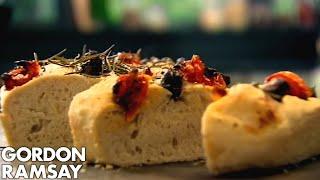Olive, Rosemary and Tomato Focaccia - Gordon Ramsay