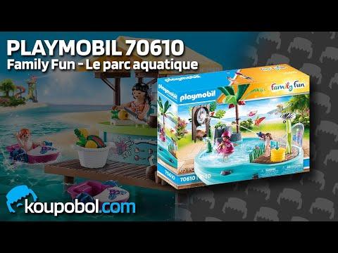 Vidéo PLAYMOBIL Family Fun 70610 : Piscine avec jet d'eau