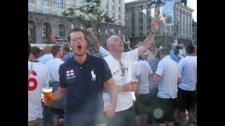 "EURO-2012. English fans are singing ""Football's coming home"". Fan Zone 24.06.2012"