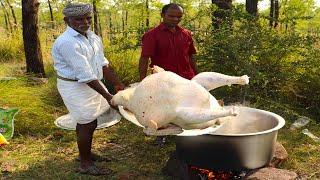 8 KG Full Turkey !!!  Yummy Turkey Gravy prepared by uncle | food fun village