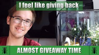 Almost give away time - I feel like giving something  back  |  Ant Holleufer