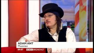 Adam Ant interview Adam Ant is The BlueBlack Hussar In Marrying The Gunners Daughter