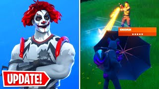 HOW TO FIND AND USE KINGSMAN UMBRELLA IN FORTNITE! NEW *FREE* SKINS!