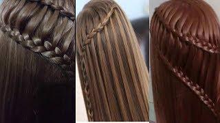 Waterfall Braids & Ladder Braid Hairstyle Tutorial  -  2-in-1 Braided Hairstyles  By Makeup Styles