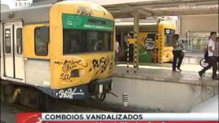 Comboios Vandalizados