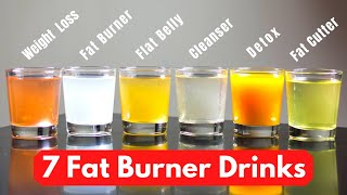 7 Fat Burner Drinks for 7 Days || Lose Weight Fast || Fastest Way to Lose Belly Fat