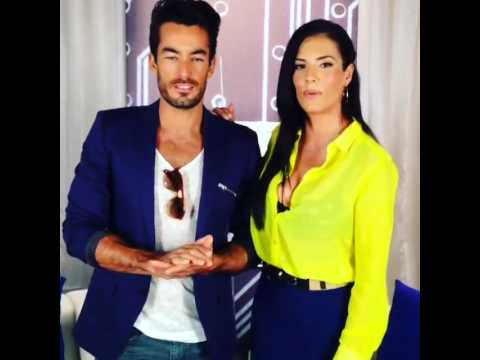 Gaby Espino y Aaron Diaz - Press Day Behind the scenes