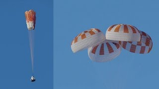SpaceX Crew Dragon parachutes test