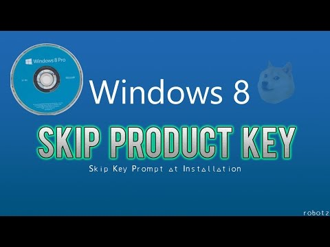How to SKIP Windows 8 Product Key
