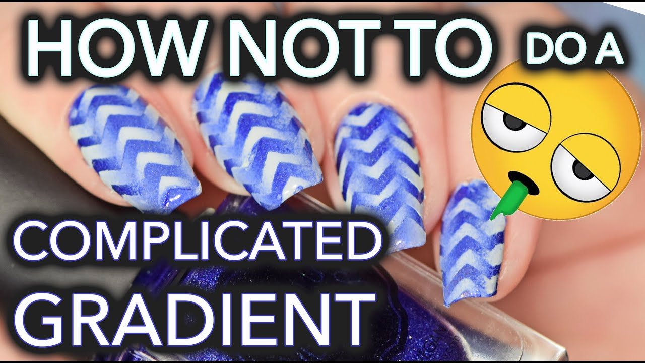 How NOT to do complicated gradient nail art thumbnail