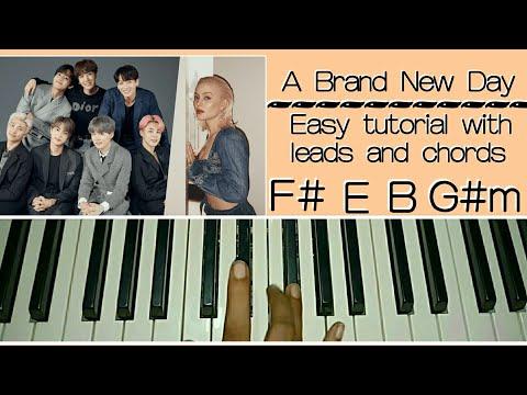 BTS 방탄소년단 -  A Brand New Day - Easy Piano Tutorial Step by Step Ft Zara Larsson ) V, J- hope
