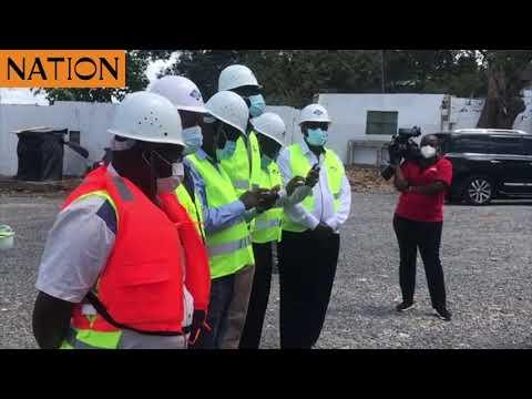 Uhuru inspects ongoing construction of Sh1.9bn floating bridge in Likoni