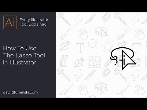 Illustrator Tutorial - How To Use The Lasso Tool
