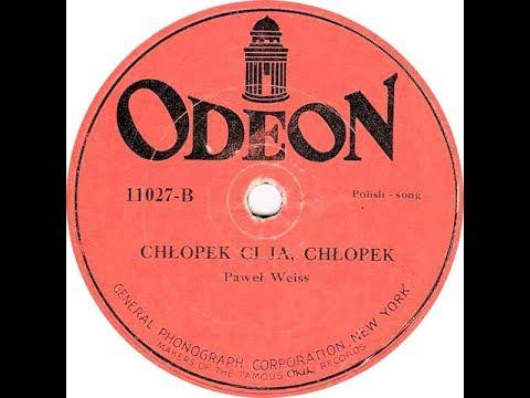 Polish 78rpm recordings, ~1921. ODEON/Okeh 11027. Pognała wołki / Chłopek ci ja, chłopek