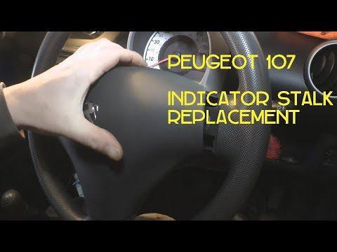 #Peugoet107 #Indicators Peugeot 107, Aygo & C1 Replacing Faulty Indicator Stalk
