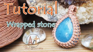 How To Wrap A Stone Cabochon Pendant With Macrame Technique/ Easy Tutorial