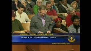 CCR SPEAKS AT METRO COUNCIL