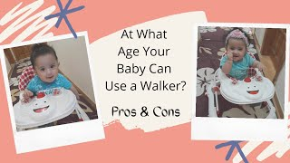 WHEN TO LET YOUR BABY START USING A BABY'S WALKER?