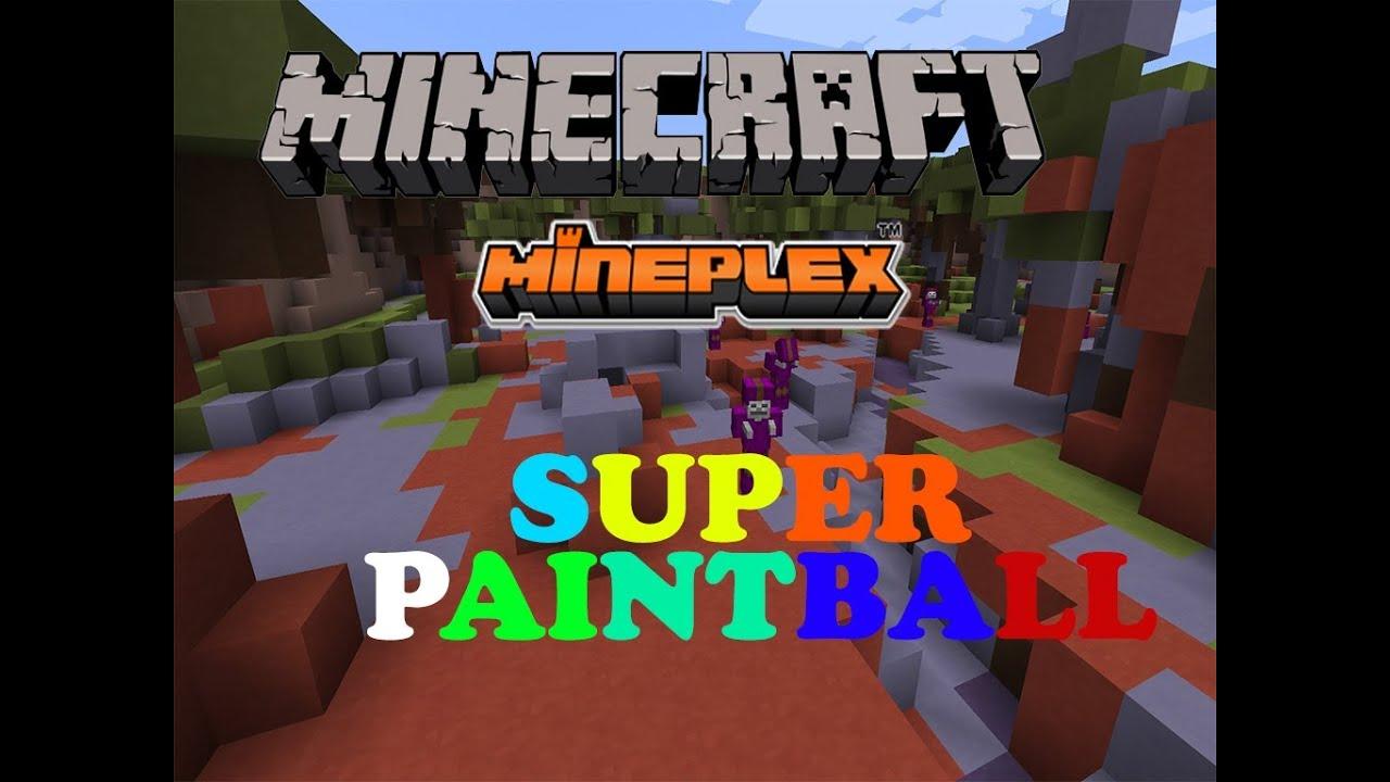 Waffen in Klötzchenform - Super Paintball auf Mineplex