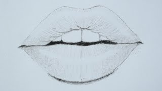How To Draw Lips Using Pencil For Beginners